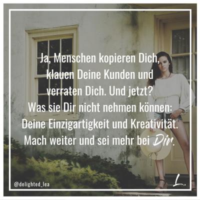 """""""Mach weiter und sei mehr bei Dir"""" - Lea Ernst"""